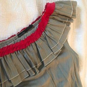 Calvin Tran. One shoulder dress with pockets!